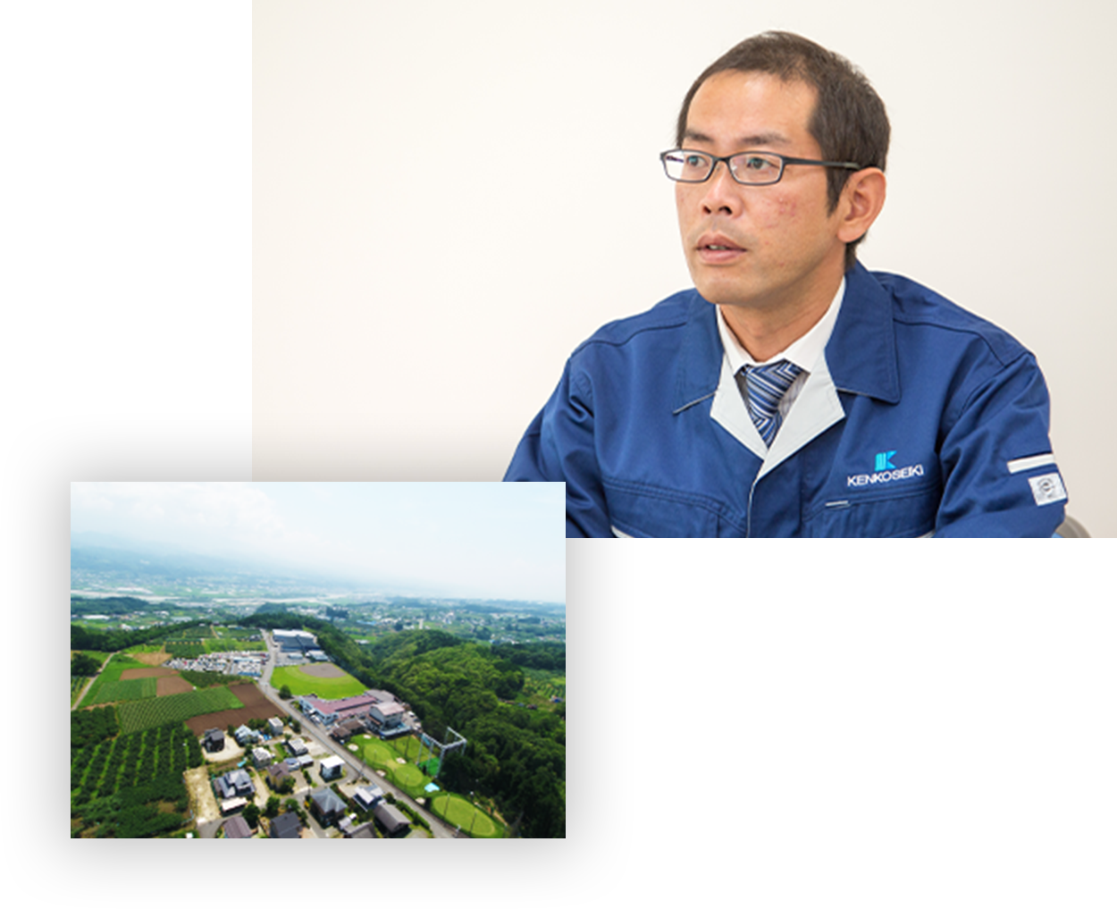 代表取締役 滝澤佳人/乾光精機の空撮写真